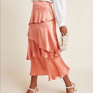 NWT MAEVE Cassia Tiered Maxi Skirt